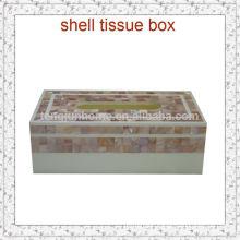 tissue storage box pink seashell mosaic box for home decor
