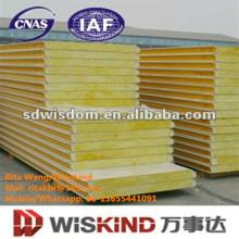 Panneau économiseur d'énergie de couleur de laine de verre fabriqué par le prix usine de Wiskind