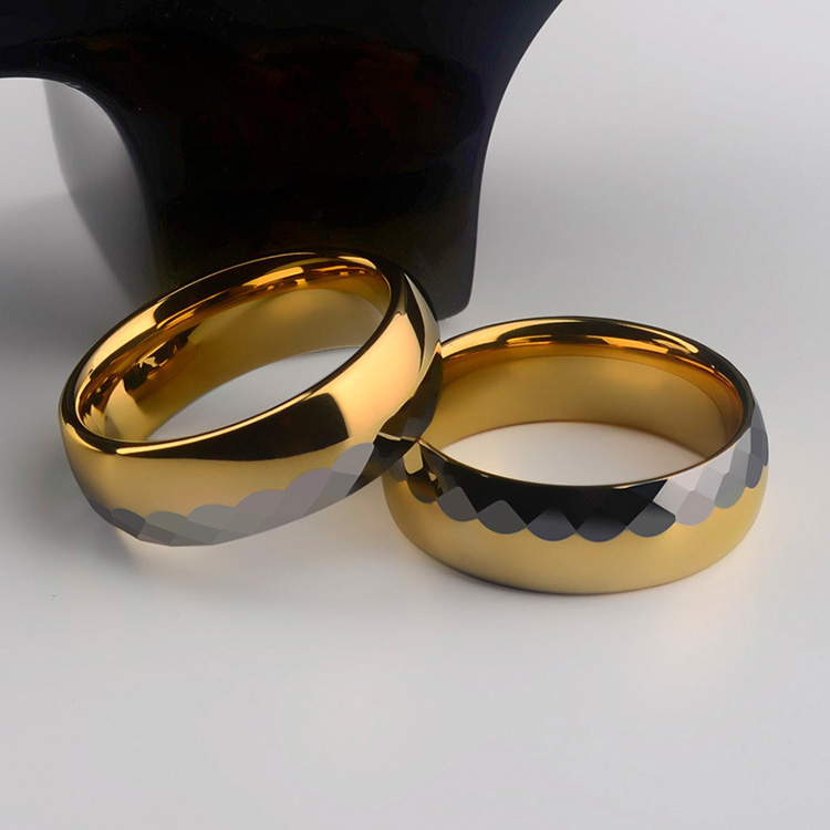 Gold And Silver Tungsten Ring