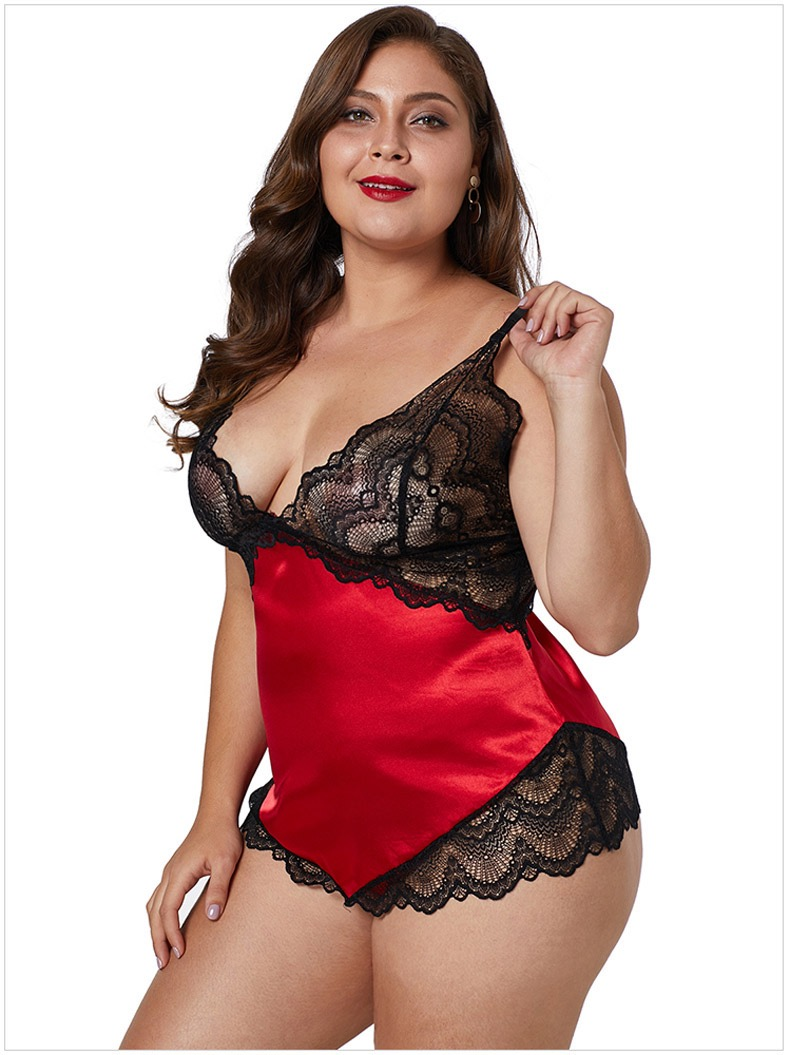 Red Satin Fabric Lingerie