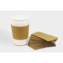 Печатных одноразовые бумажный стаканчик рукав для горячего кофе