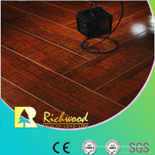 Plancher en stratifié absorbant le bruit de noix de miroir de 12,3 mm E1 HDF