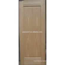 HDF / MDF piel de puerta de chapa moldeada por ceniza / teca / sapeli / roble