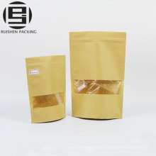 Tea bag paper ziplock stand up craft pouches