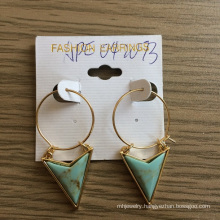 Large Circles with Triangular Earrings