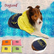 Portable Reflective Dog Rain Coat Waterproof Nylon Dog Pet Raincoat