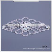 Hot sale Sew On Wedding Dress Rhinestone Applique& Patch