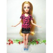 Angepasste 3D Prinzessin Puppe Blondes Haar Kunststoff Kinder Weihnachten Spielzeug