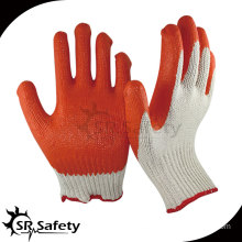 SRSAFETY 10G Knitted Polycotton Liner Coated Red Latex Gloves