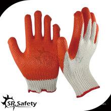 SRSAFETY 10G трикотажные лакированные латексные перчатки с полиукановым покрытием