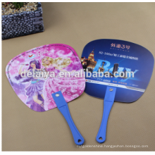 Manufactuer paper plastic hand fan for promotional