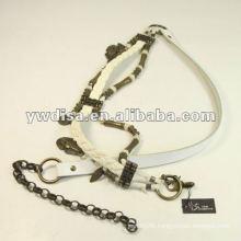 Antique Brozen Metal Leather Belt