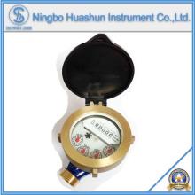 Single Jet Wasserzähler / Nass Typ Wasserzähler / Messing Körper Wasserzähler