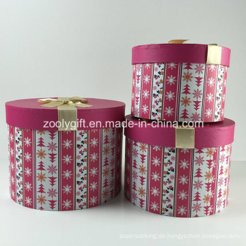 Kundenspezifische bedruckte Kosmetik Runde Papier Geschenkbox Sets mit Multifunktionsleiste