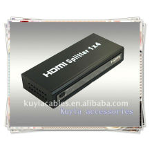 Fast selling HDMI splitter 1*4,One HDMI input signal split to four HDMI sink devices