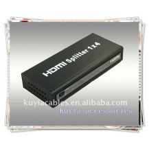 Быстрая продажа HDMI-сплиттера 1 * 4, один входной сигнал HDMI, разделенный на четыре приемника HDMI