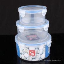 Caixa de comida de plástico 3pcs set