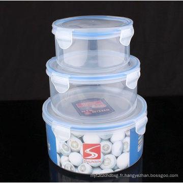 Ensemble 3PCS pour aliments en plastique