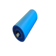 Conveying system black/blue HDPE pipe roller