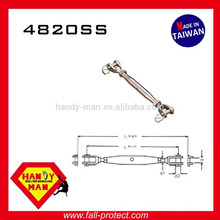 4820SS Ladder Vertical Life Line Sistema Hardware Peças de equipamento Stainless Steel Jaw and Jaw Turnbuckle