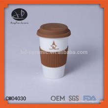 Tea mug,ceramic mug with logo,12oz double wall super white ceramic mug