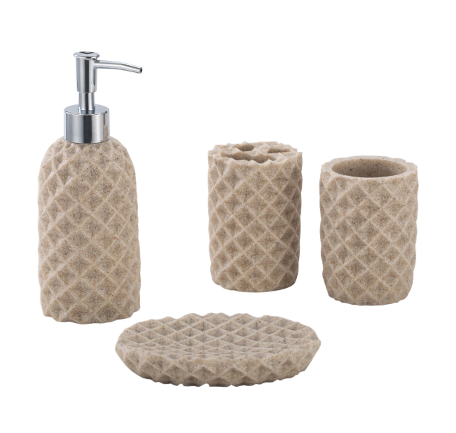 Bathroom furniture accessories with soap dish