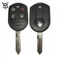 Top quality black car keys 3 button car remote key for Ford with 4D63 (80 bit) chip 433 MHZ YS100147