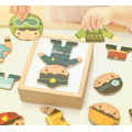 Dressing Puzzle Wooden Change Clothing Toys