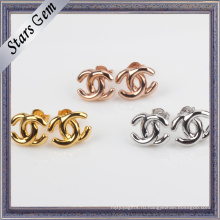 Горячие продажи новых очаровательных простых серебряных серьги ювелирные изделия