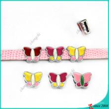 Charmes de glissière de papillon de 8mm pour des bracelets de bracelet de fille (SC16040960)