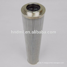 technologies de séparation élément de filtre à huile hydraulique H110D10V, cartouche filtrante en acier inoxydable