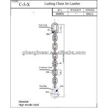 Крепежная цепь для пиломатериалов