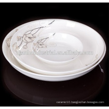 New Bone China plate ,porcelain dinnerware,white round porcelain plate