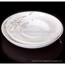 Prato de jantar de porcelana durável de alta qualidade
