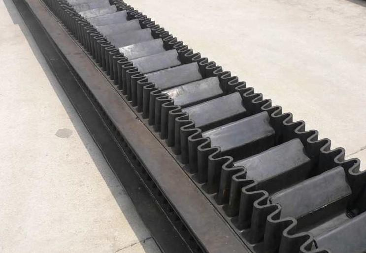 Steep Incline Sidewall Cleated Conveyor Belt