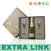 Paperboard Paper Type and wine glass bottle wine gifts Use gift box for wine