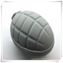 Сумка для ключей / кошелек для монет силиконовой гранатой для продвижения по службе