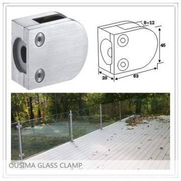 Stainless Steel Balustrade Glass Clamp with High Quality for Handrail System (CR-055)