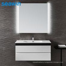 Seawin Modern Bathroom Square Acrylic Salon Anti Fog Backlit Light Led Mirror