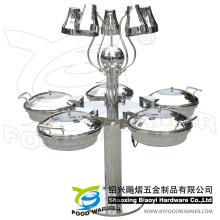 Buffet de la estación de frotamiento con lámpara de calor eléctrica de 5 estrellas