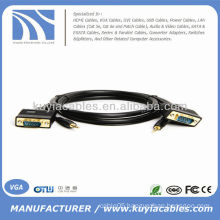 6FT VGA SVGA M/M Monitor HDTV Cable with 3.5mm Audio