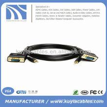 6FT VGA SVGA M / M монитор HDTV-кабель с 3,5 мм аудио