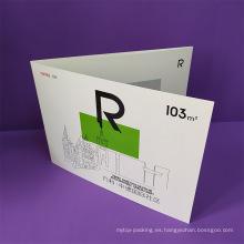 Carpeta de papel de presentación de bolsillo personalizada