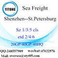 Shenzhen Port Sea Freight Shipping Para São Petersburgo