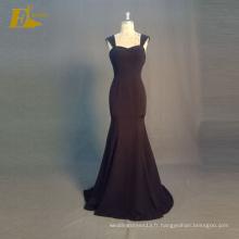 ED Bridal Elegant Real Sample Cap Sleeve Zipper Retour Noir Robes de soirée à deux voies 2017