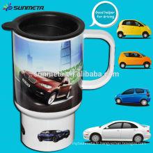Grande tasse de voiture thermique de sublimation, tasse revêtue vierge