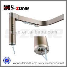 Sistema de carril cortina motorizado flexible de aluminio para hotel