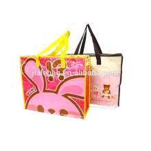 carry bag with zipper Customized promotional laminated non woven bag