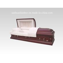 Solid Wooden Casket & Coffin / New Style Wooden Casket & Coffin