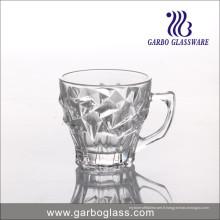 Tasse en verre à thé de 6 oz gravée avec pyramide